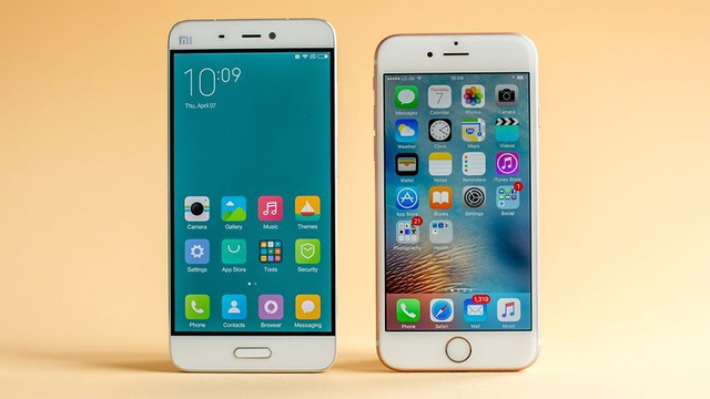 xiaomi mi 5 vs iphone