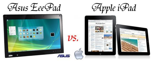 Asus Eee Pad vs.  Apple iPad