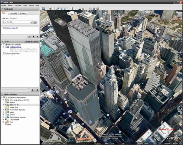 Nowy York w Google Earth