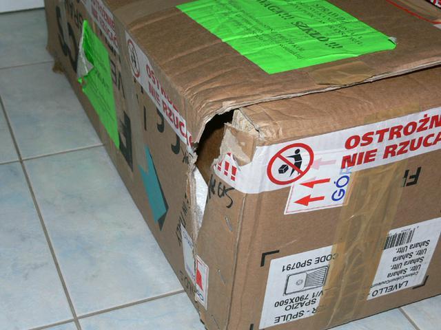 uszkodzona przesyłka