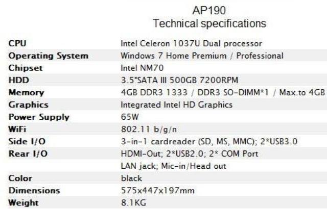 Msi AP190