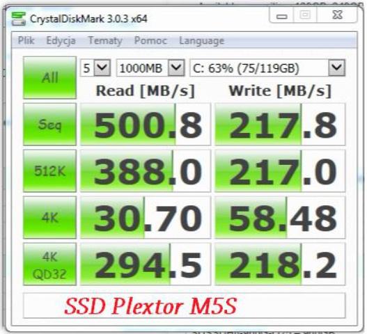 SSD Plextor M5s