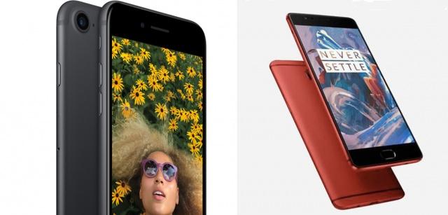 OnePlus 3 vs iPhone 7