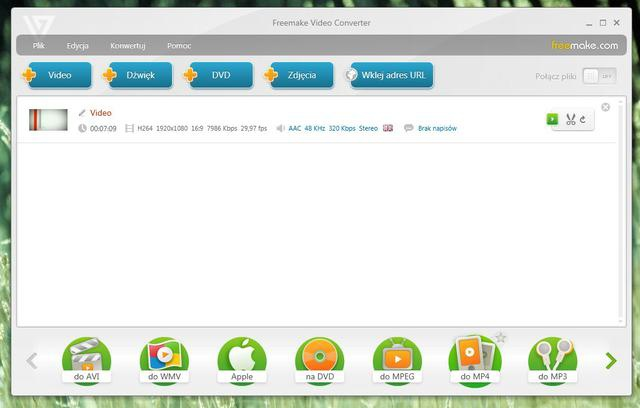 Freemake Video Converter Wybieramy plik