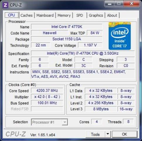 MSI Z87-GD65 cpu